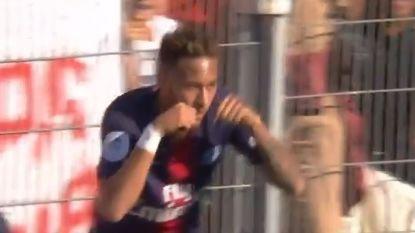 Dé revanche van Neymar op de fans die hem vooral een huilbaby vinden, dankzij assist van Meunier