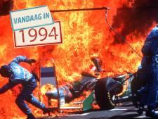 Toen de auto van Jos Verstappen in brand vloog