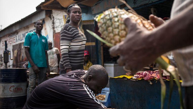 Brazzaville, Congo. De informele sector is in Afrika groot, maar komt in de cijfers niet voor Beeld AFP/Getty Images