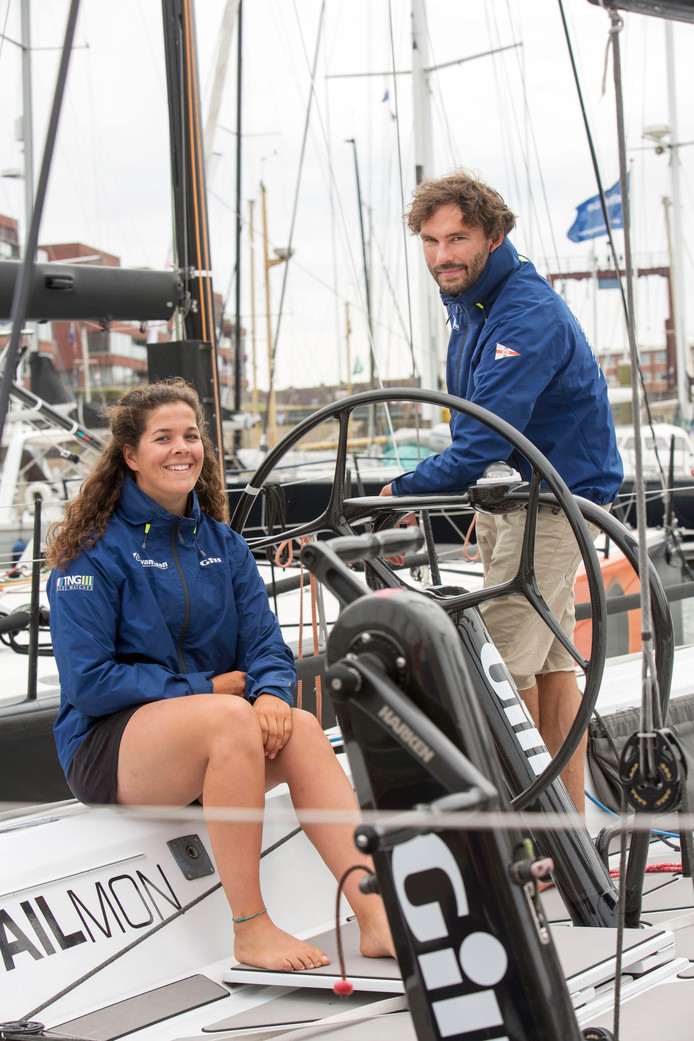 Laura van Veen en Jaap van Rijckevorsel van het Rotterdam Offshore Sailing Team.