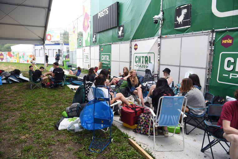 Eerste festivalkampeerders van the Hive op Rock Werchter
