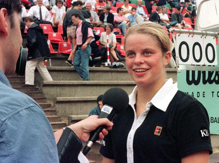 Kim Clijsters Saturday Aug. 1, 1998, in Brussels. Belga Photo Jacques Collet Beeld BELGA