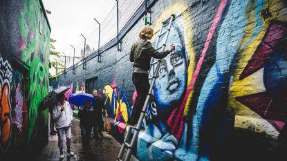 Graffitistraatje begint met schone lei