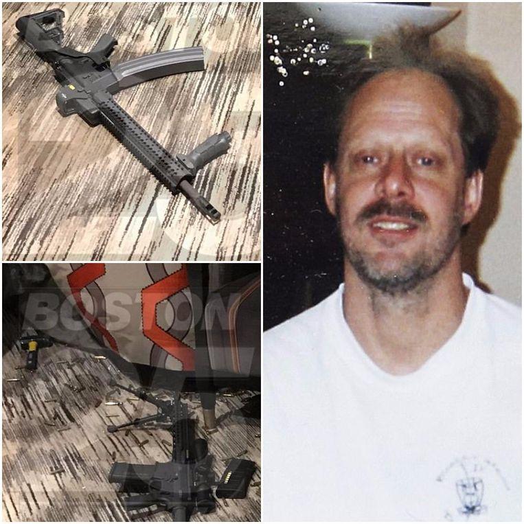 Met tien valiezen had Stephen Paddock maar liefst 23 wapens en honderden kogels naar zijn hotelkamer gebracht, bij hem thuis werden nog eens 19 vuurwapens en explosieve chemische stoffen aangetroffen.