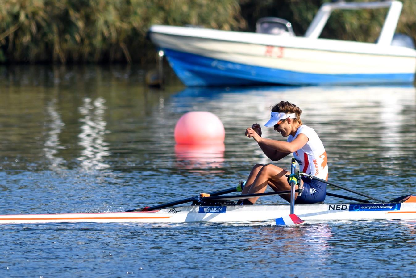 Martine Veldhuis werd zondag in Polen Europees kampioen.