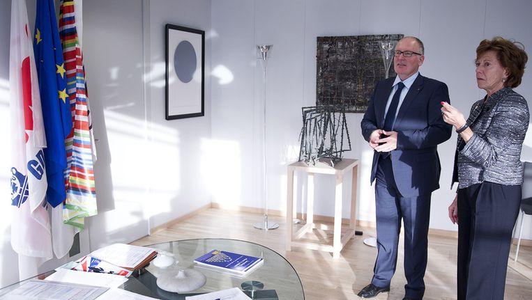 Minister van Buitenlandse Zaken Frans Timmermans ontmoet Eurocommissaris Neelie Kroes Beeld ANP