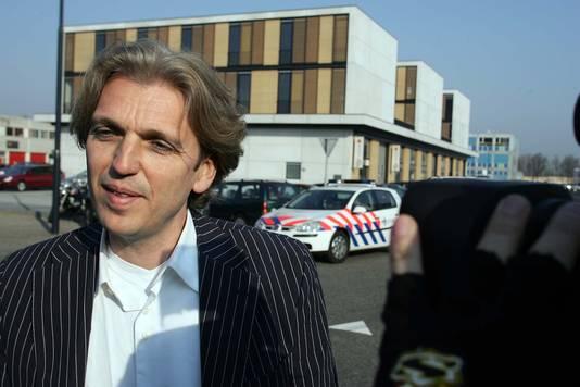 Advocaat Arthur van der Biezen tijdens het megaproces rond Willem Holleeder in 2007