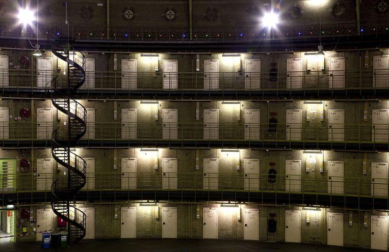 De Penitentiaire Inrichting Haarlem, waar Hannie Schaft enkele dagen verbleef voordat ze werd gefusilleerd. Beeld ANP