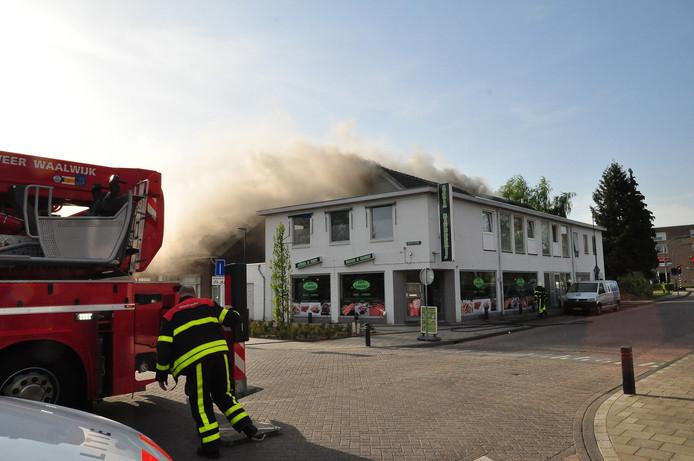Brand bij Bakkerij in Waalwijk