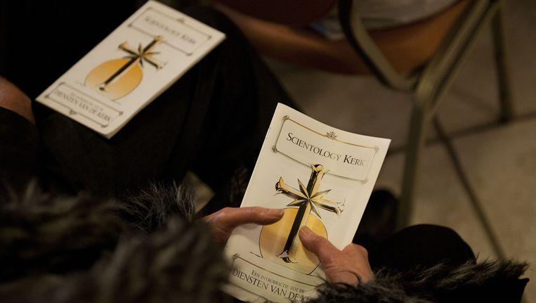 Een dienst in de Scientologykerk in Amsterdam in 2011. Beeld ANP