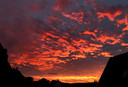 Zonsondergang boven binnenstad Kampen