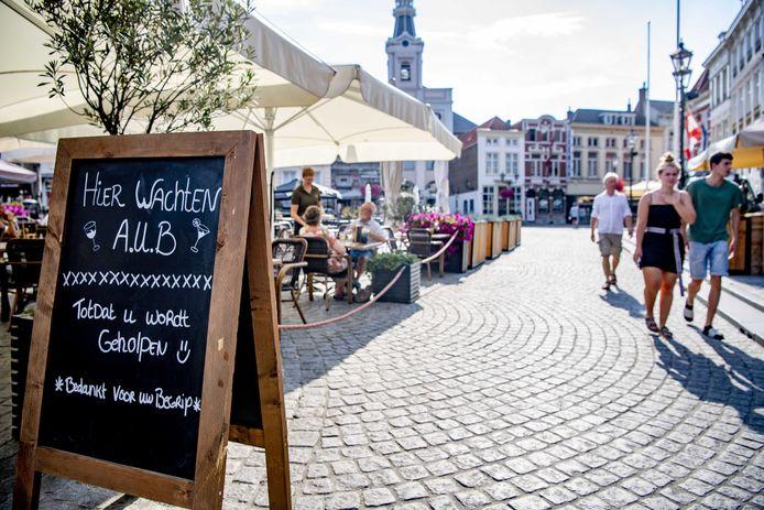 Corona-maatregelen in Bergen op Zoom.