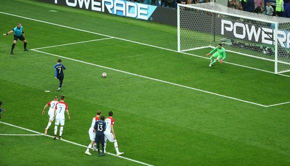 Griezmann trapte in de finale een strafschop.