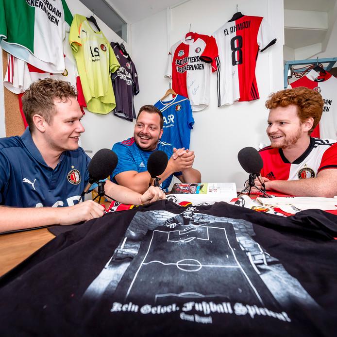 Van links naar rechts: Wesley van Oevelen, Rob van Elewout en Freek Verhulst.