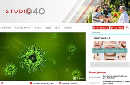 Lokale omroep Studio040 in Eindhoven onderzoekt of de lokale zender meer en langere uitzendingen kan maken om aan de behoefte aan informatie over het corona-virus te voldoen.