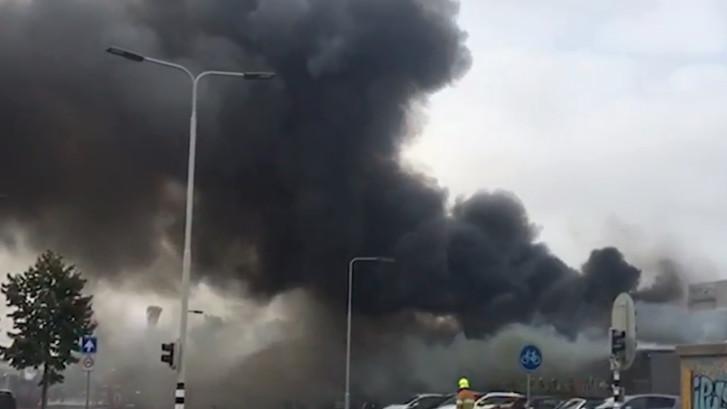 Grote brand in slagerij in Arnhem