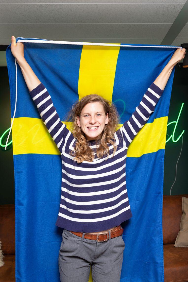 Alice Dieden Richter (28) is voor Zweden. Beeld Pauline Niks