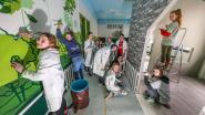 Leerlingen Heilige Familie Ieper geven kinderopvang opknapbeurt