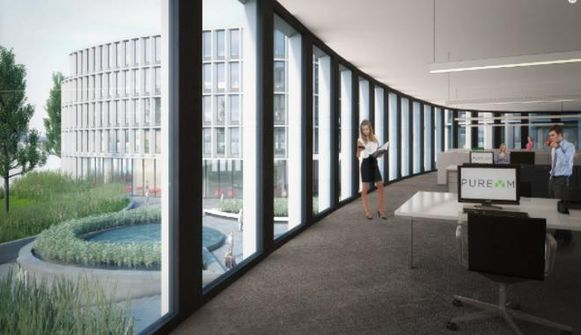 Een binnenzicht in de kantoren van Pure M.