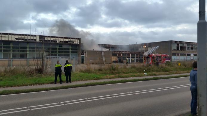De brand bij het leegstaande schoolpand.