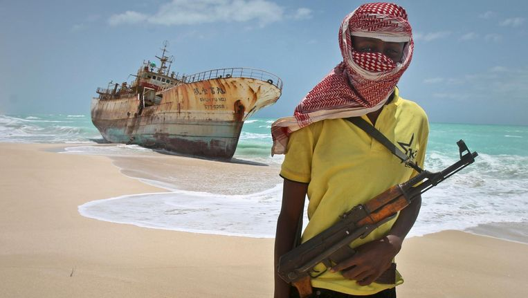 Piraterij op zee.