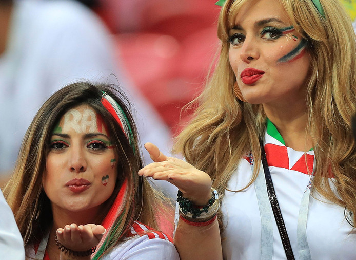 Iranian female football fans