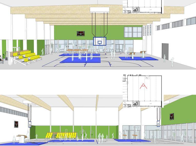 De gemeente participeert ook in de bouw van de sporthal.