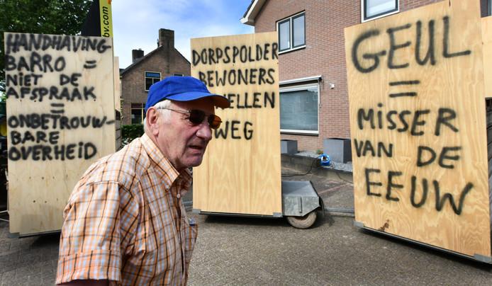 De buurt protesteerde hevig tegen de nevengeul bij Varik.