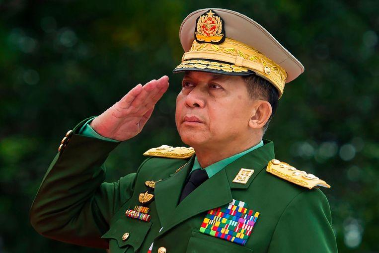 De Myanmarese generaal Min Aung Hlaing. Beeld AFP