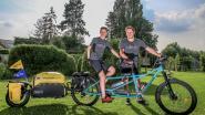 Vader en zoon bereiken Denemarken met de fiets en halen 8.800 euro op voor goede doel