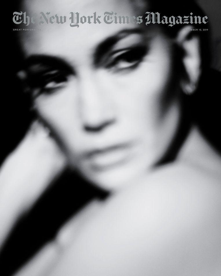 Het portret van Jennifer Lopez in het themanummer 'Great Performers'.  Beeld New York Times Magazine