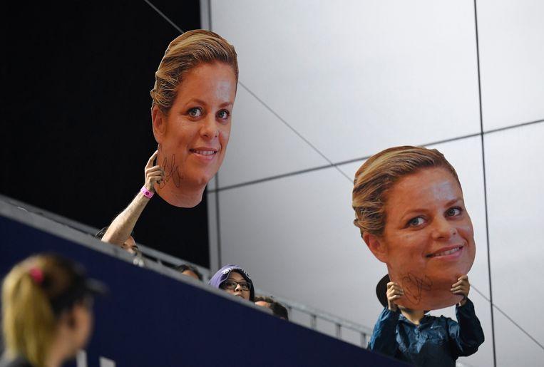 Ook in Monterrey kon Clijsters rekenen op de steun van vele fans.
