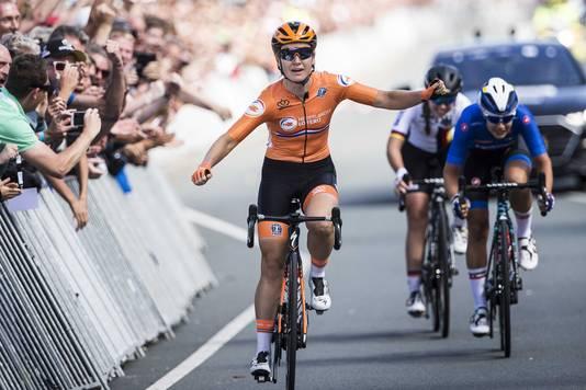 Amy Pieters veroverde eerder dit jaar de Europese titel op de weg.