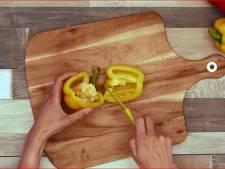 Dit is een handige manier om je paprika's te snijden