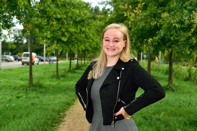 Shannen (22) doet aan vechtsport kempo, maar straalt ook in