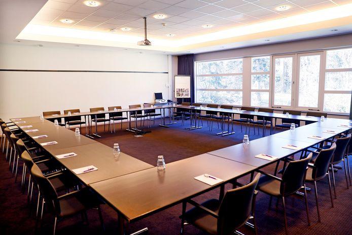 De vergaderruimte voor de technische staf.