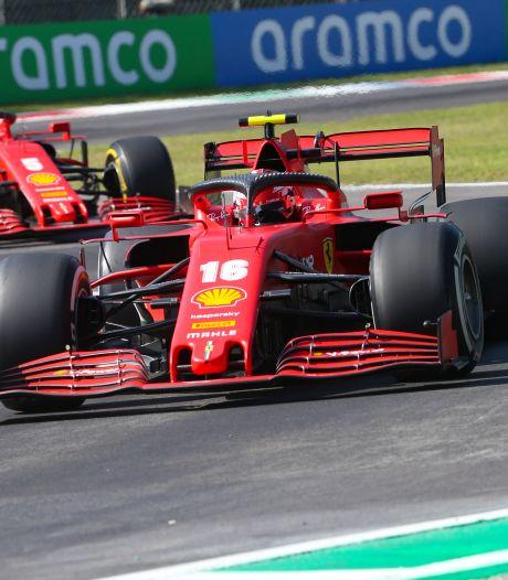 Ferrari bordeauxrood in jubileumrace op eigen circuit