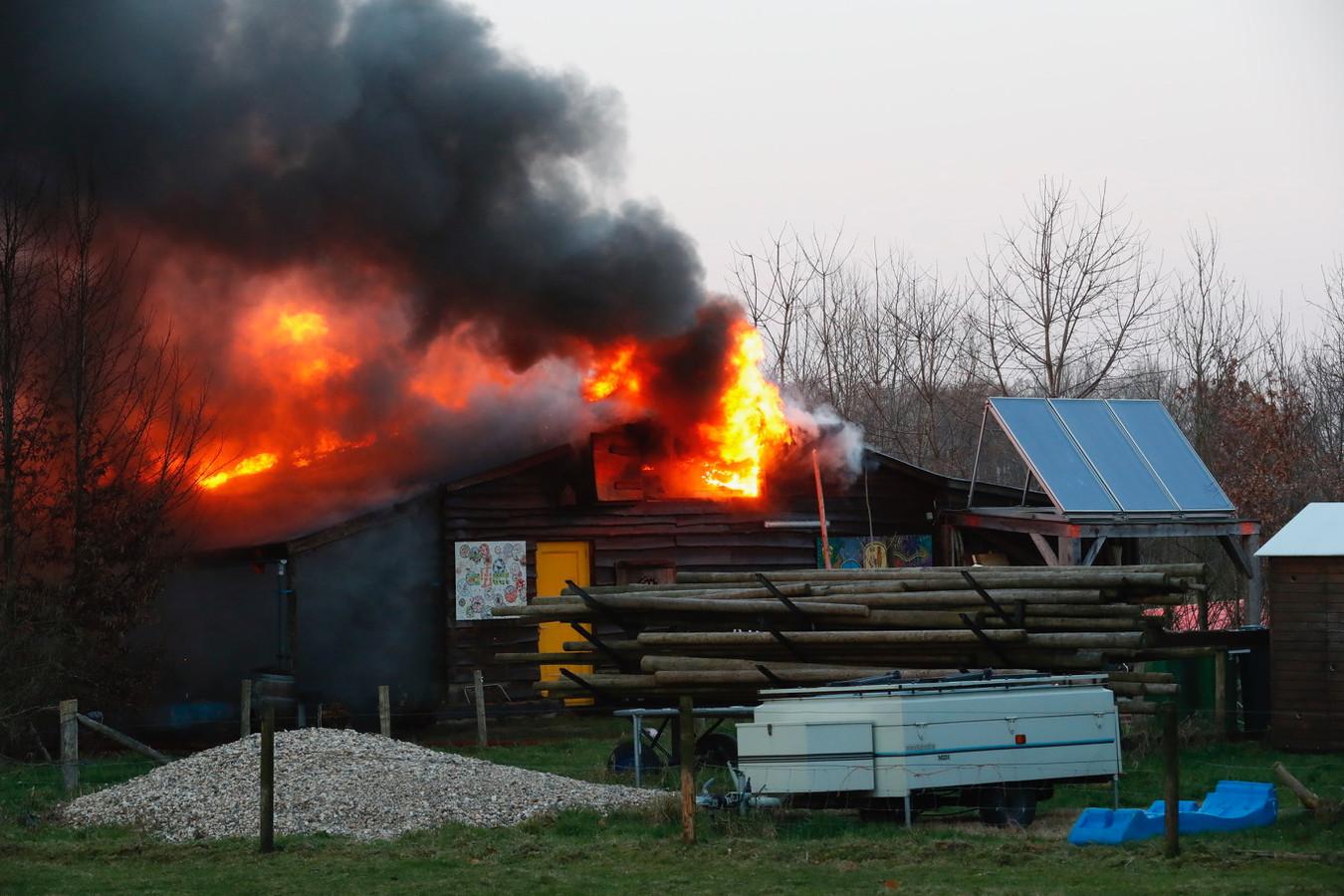 De brand in de zorgboerderij in Vlijmen.