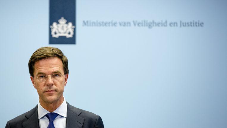 Mark Rutte. Beeld null