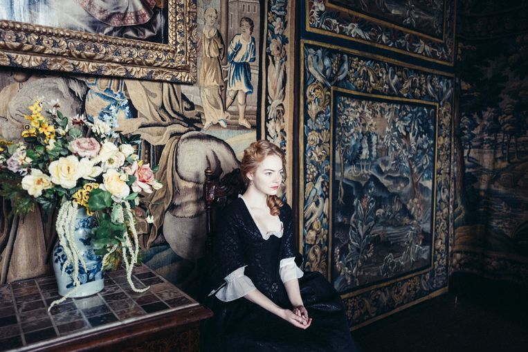 Emma Stone in The Favourite. Beeld -