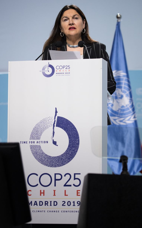 Ook onze minister van Milieu Marie-Christine Marghem gaf vandaag een speech in Madrid.