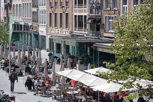 De Grote Markt in Sint-Truiden.