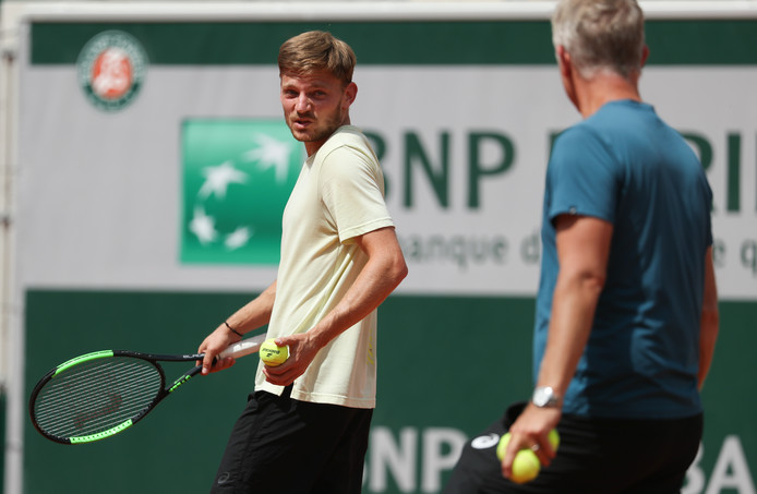 David Goffin et son coach, Thomas Johansson.