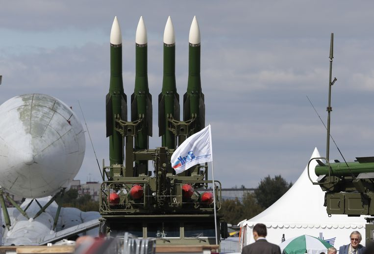Raketten van een Buk-raketsysteem. Beeld ap