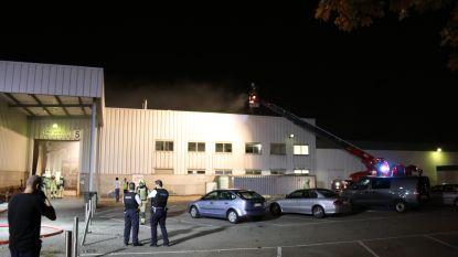 Afzuiginstallatie vat vuur in bedrijf