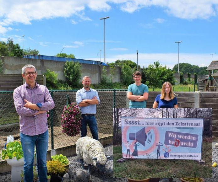 Het buurtcomité van de Wittouckwijk pakt uit met een ludieke actie.