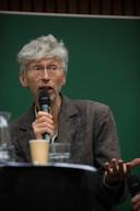Johan Vollenbroek aan het woord tijdens het Boerendebat.
