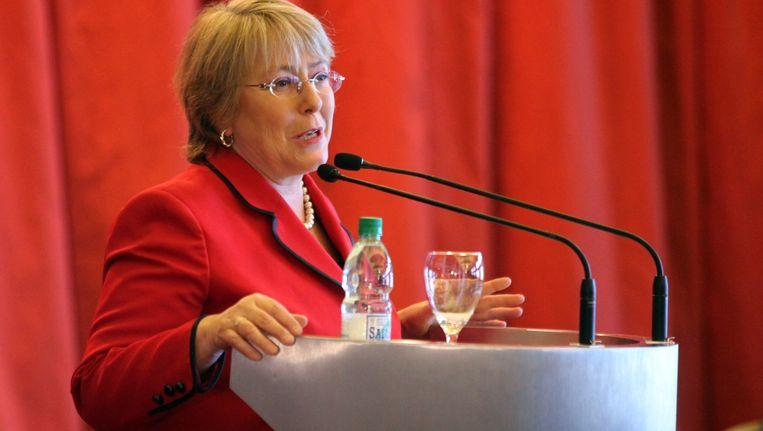 De voormalig Chileense president Michelle Bachelet leidde de adviesgroep van de ILO. Beeld EPA