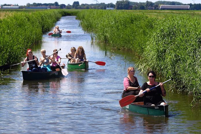 Een unieke kans om te kanoën op 't Breede Gat, want dat mag normaal gesproken niet.