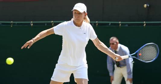 Martina Navratilova tennisste tot op haar 49ste op topniveau.